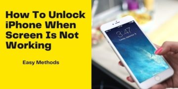 How To Unlock iPhone When Screen Is Not Working